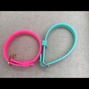 Bundle of 2 silicone bracelets